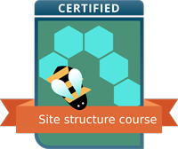 Danny Margagliano successfully completed the Site structure course!